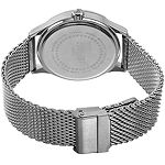 August Steiner Mens Silver Tone Stainless Steel Strap Watch-As-8223ssbu