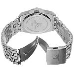 Joshua & Sons Mens Silver Tone Strap Watch-J-93bu