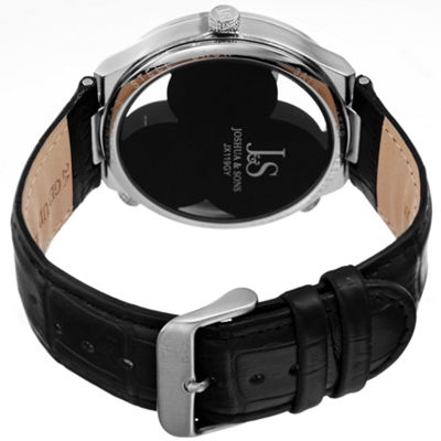 Joshua & Sons Mens Black Strap Watch-J-119gy