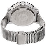 Joshua & Sons Mens Silver Tone Stainless Steel Strap Watch-J-132rd