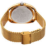 Joshua & Sons Mens Gold Tone Stainless Steel Strap Watch-J-136yg