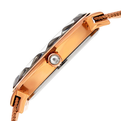 Akribos XXIV Womens Rose Goldtone Bracelet Watch-A-1009rg