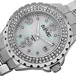 August Steiner Womens Silver Tone Bracelet Watch-As-8156ss