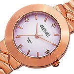 August Steiner Womens Rose Goldtone Strap Watch-As-8157rg