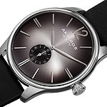 Akribos XXIV Mens Black Leather Strap Watch-A-916ssb