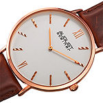 August Steiner Mens Brown Leather Strap Watch-As-8166rgbr