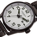 Akribos XXIV Mens Black Stainless Steel Strap Watch-A-956ss