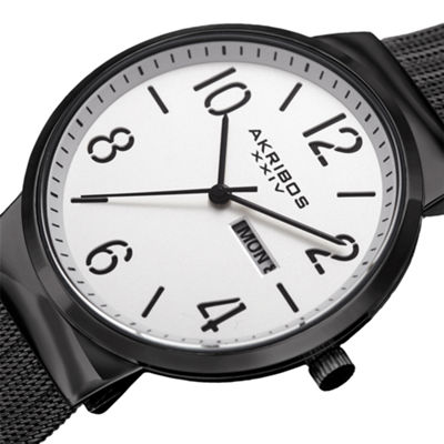 Akribos XXIV Mens Black Strap Watch-A-996bk