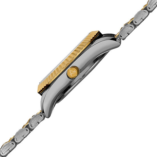August Steiner Womens Two Tone Stainless Steel Strap Watch-As-8046ttg