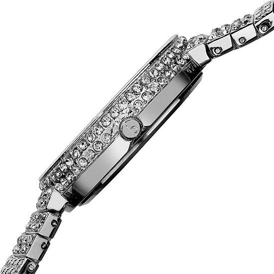 Burgi Womens Silver Tone Strap Watch-B-048ss