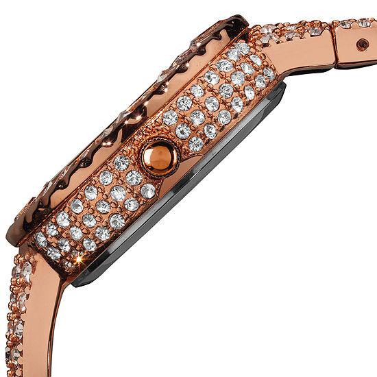 Burgi Womens Rose Goldtone Strap Watch-B-040rg
