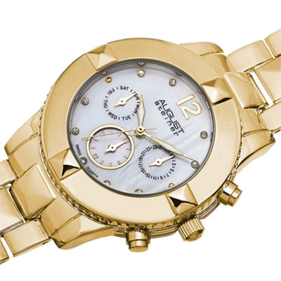 August Steiner Womens Gold Tone Strap Watch-As-8107yg