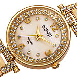August Steiner Womens Gold Tone Strap Watch-As-8137yg