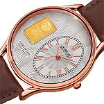 August Steiner Mens Brown Leather Strap Watch-As-8224rg