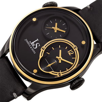 Joshua & Sons Mens Black Strap Watch-J-118bkyg