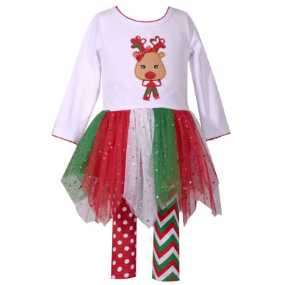 Bonnie Jean 2-pc. Reindeer Tutu Legging Set- Baby Girls