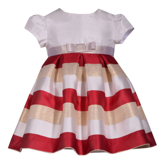 Bonnie Jean Short Sleeve Stripe A-Line Dress - Baby Girls