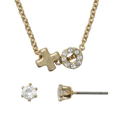 Sensitive Ears Gold Tone Copper Round 2-pc. Jewelry Set