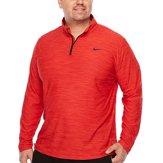 Nike Big and Tall Mens Crew Neck Long Sleeve Quarter-Zip Pullover