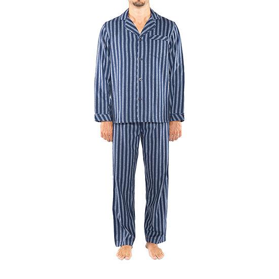 Residence Men's Tall 2-pc. Long Sleeve Pajama Set