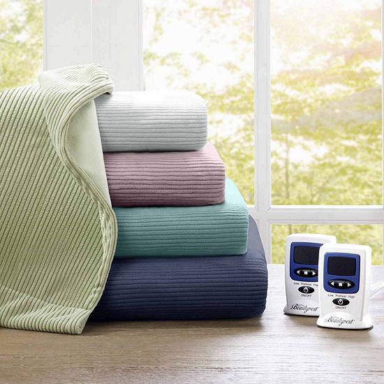 Beautyrest® Ribbed Microfleece Heated Blanket