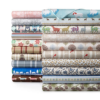 Micro Flannel Print Sheet Set Jcpenney