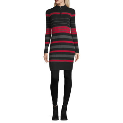 Byer California-Juniors Long Sleeve Bodycon Dress