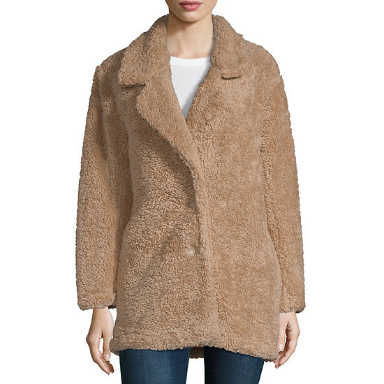 Arizona Heavyweight Faux Fur Coat Juniors