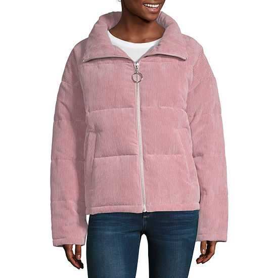 Arizona Velvet Heavyweight Puffer Jacket-Juniors
