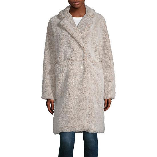 Say What Sherpa Lightweight Faux Fur Coat Juniors