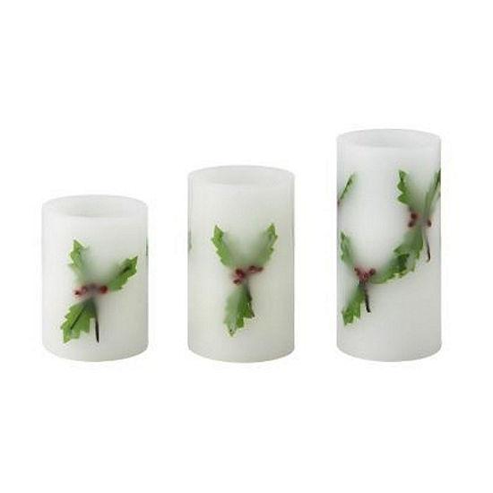 Pfaltzgraff Winterberry 3-pc. Flameless Candle
