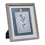 Danya B Grey And White 5 X 7 Vertical Wood 1-Opening Tabletop Frame