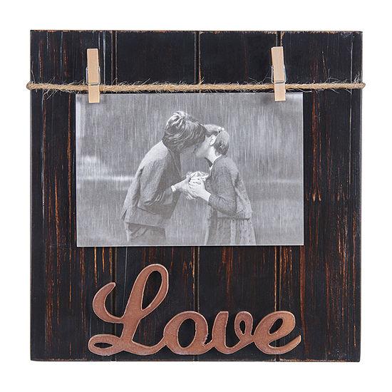 """Danya B Love Wood Block 4""""X 6"""" 1-Opening Tabletop Frame"""