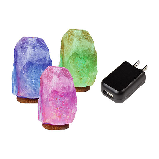 Sharper Image Salt Lamp Color Changing Lighted Tabletop Decor
