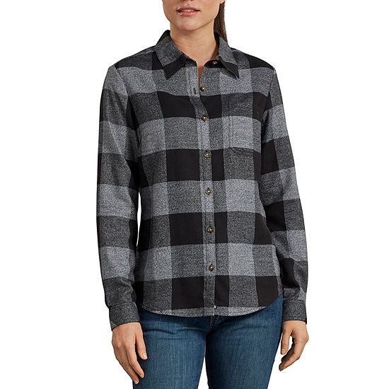 Dickies Womens Long Sleeve Flannel Shirt