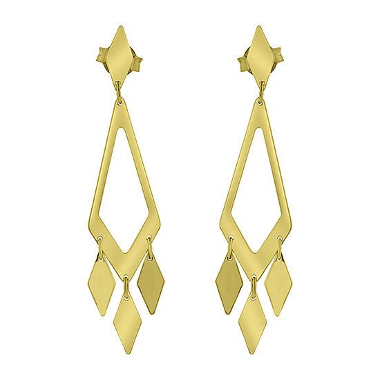Made in Italy 14K Rose Gold Diamond Chandelier Earrings