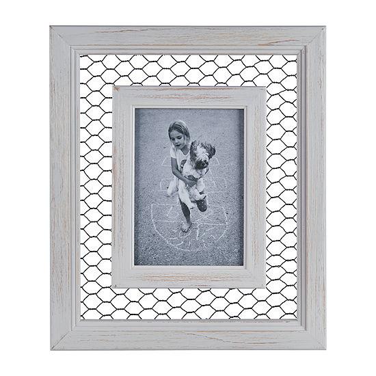Danya B Chicken Wire Whitewash Wood  - 5 X 7 1-Opening Wall Frame
