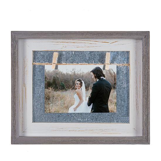 Danya B Grey And White 4 X 6 Horizontal Wood 1-Opening Tabletop Frame