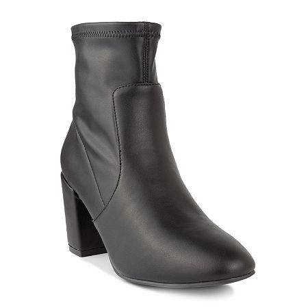 Sugar Womens Itsie Stacked Heel Booties, 6 Medium, Black