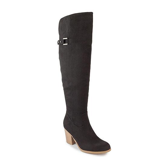 Sugar Womens Winnie Stacked Heel Dress Boots