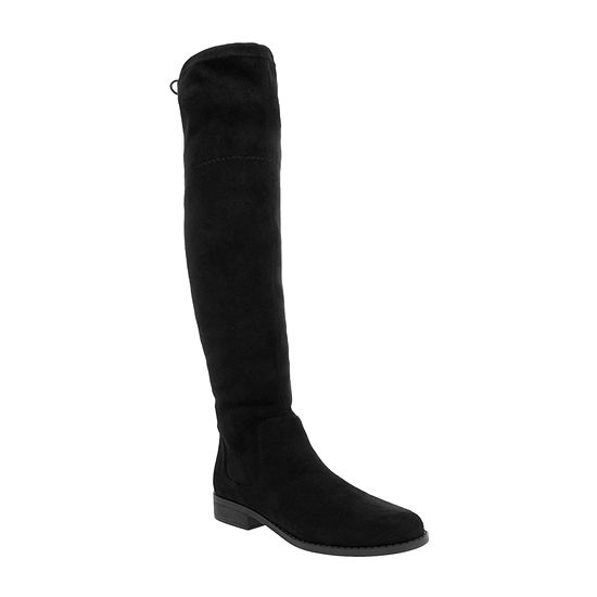 Sugar Womens Unna Stacked Heel Over The Knee Boots