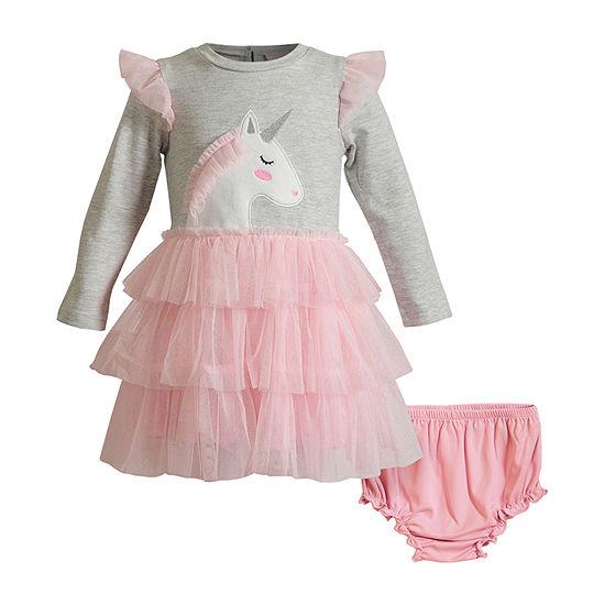 Youngland Baby Girls Long Sleeve Tutu Dress