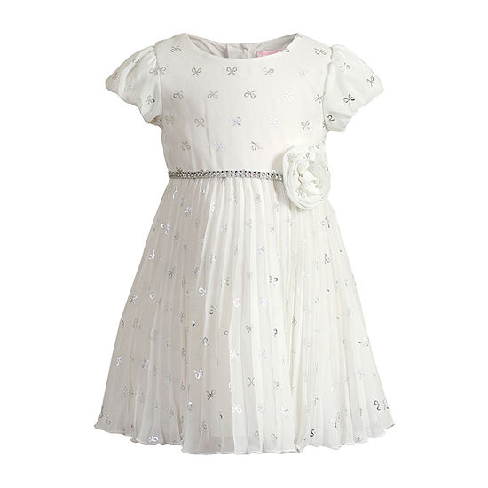Young Land Baby Girls Short Sleeve Empire Waist Dress