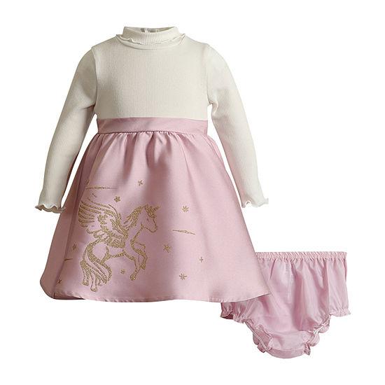 Youngland Baby Girls Long Sleeve Empire Waist Dress