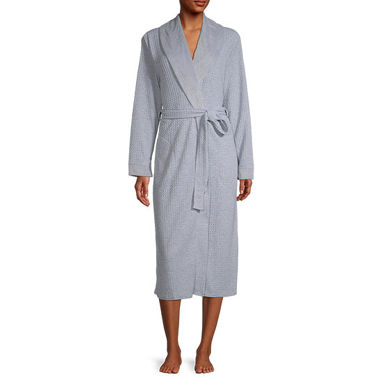 Liz Claiborne Womens Long Sleeve Robe