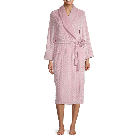 Jaclyn Womens Plush Long Sleeve Robe