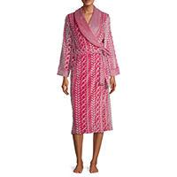 Deals on Jaclyn Womens Plush Long Sleeve Robe