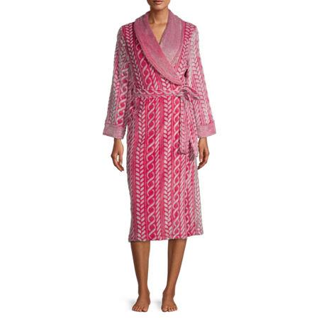 Jaclyn Womens Plush Long Sleeve Robe