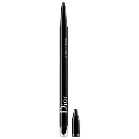 What it is: A waterproof eyeliner that creates a captivating look with a matte or metallic finish, creamy texture, and vibrant color. What Else You Need to Know: The Diorshow Diorshow Stylo Waterproof Eyeliner combines practicality and performance thanks to a compact, travel-friendly format. Its precise applicator tip dresses the eyes in deep color with a matte or shimmery finish. This waterproof liner also maintains the same intensity for up to 24 hours.Suggested Usage:-Twist to slightly extend the tip of the eyeliner, then apply along the lash line. -Size:0.007oz / 0.2gIngredients:Dimethicone, Dicalcium Phosphate, Trimethylsiloxysilicate, Synthetic Wax, Phenylpropyldimethylsiloxysilicate, Polyethylene, Mica, Polyhydroxystearic Acid, Caprylyl Trimethicone, Pentaerythrityl Tetra-Di-T-Butyl Hydroxyhydrocinnamate, Disteardimonium Hectorite, Propylene Carbonate, Synthetic Fluorphlogopite, Calcium Aluminum Borosilicate, Calcium Sodium Borosilicate, Silica, Tin Oxide, [+/- :Ci 19140 (Yellow 5, Yellow 5 Lake), Ci 42090 (Blue 1 Lake), Ci 77000 (Aluminum Powder), Ci 77007 (Ultramarines), Ci 77163 (Bismuth Oxychloride), Ci 77266 [Nano] (Black 2), Ci 77288 (Chromium Oxide Greens), Ci 77289 (Chromium Hydroxide Green), Ci 77491, Ci 77492, Ci 77499 (Iron Oxides), Ci 77510 (Ferric Ferrocyanide, Ferric Ammonium Ferrocyanide), Ci 77742 (Manganese Violet), Ci 77891 (Titanium Dioxide)].