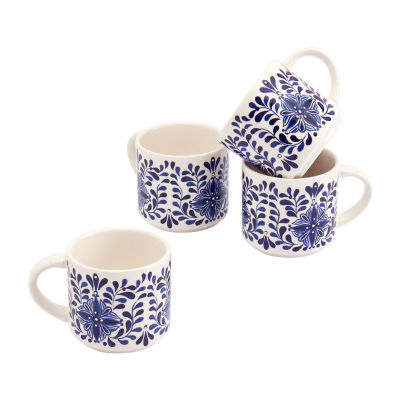Tabletops Unlimited Carmine 4-pc. Coffee Mug